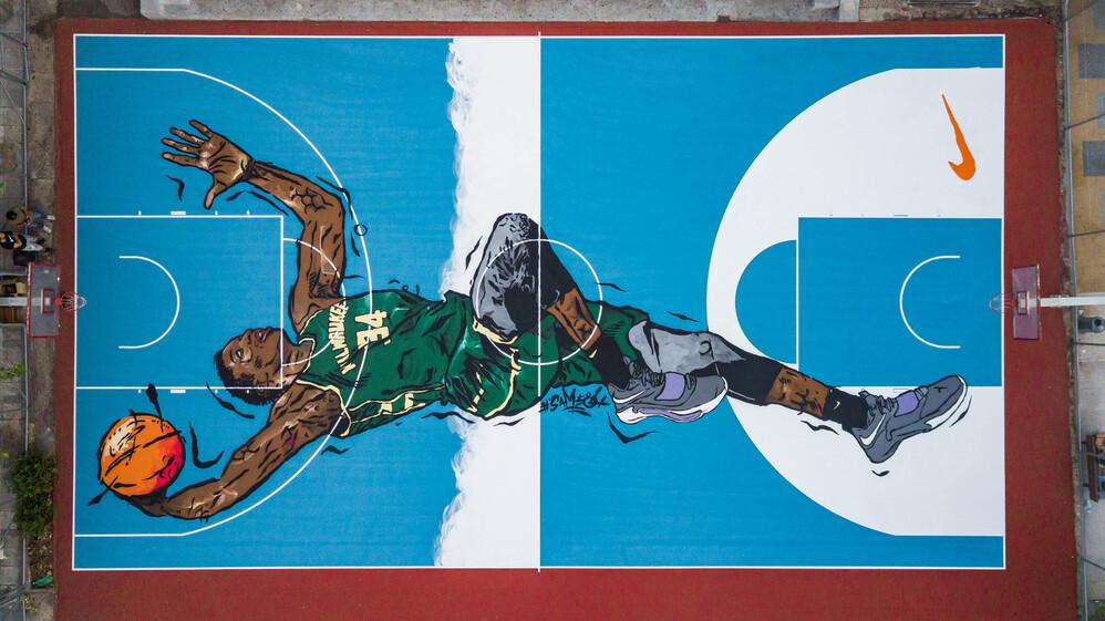 ΦΩΤΟ Γήπεδο γκράφιτι