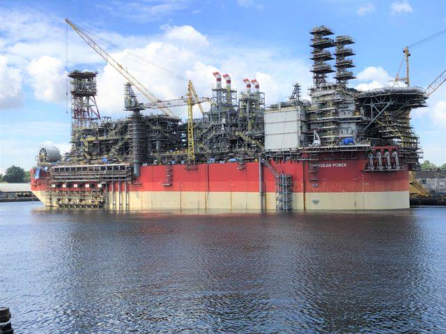 Το FPSO Energean Power, ολοκληρωμένο σχεδόν 100% σε ναυπηγείο της Σιγκαπούρης